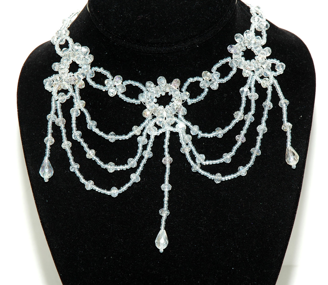 Crystal beaded gothic chandelier necklace crystal forehead band crystal beaded gothic chandelier necklace crystal forehead band bridal neckl aloadofball Images