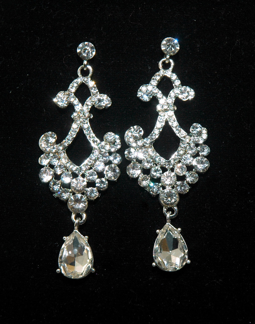 crystal inverted icing drop us earrings rhinestone and teardrop